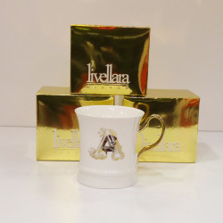 MUG IN PORCELLANA E ORO A -...